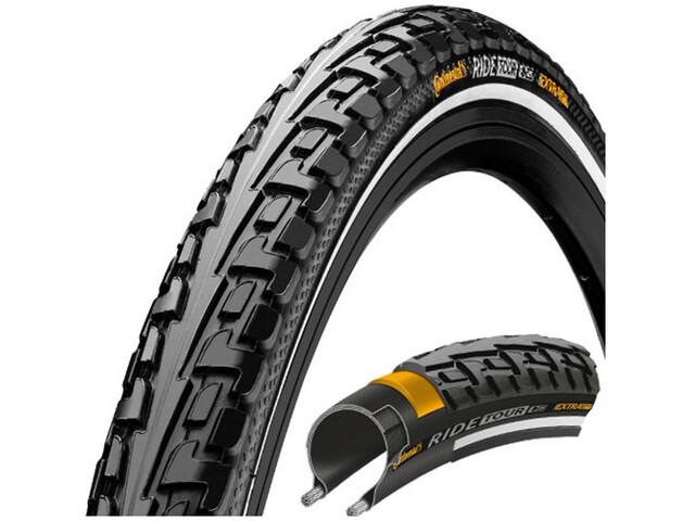 "Continental Ride Tour Clincher Tyre 28"" Reflex, black/black"